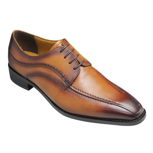 【MODELLO(モデーロ)】【BIGサイズ】手縫いステッチを施した牛革ビジネスシューズ(スワールモカ)・DMK5019(ライトブラウン)・4E/メンズ 靴