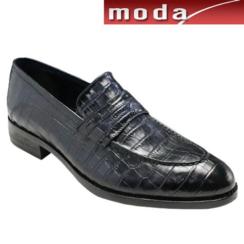 特価 モデロ メンズ/人気のクロコ型押しドレス 靴&カジュアルスリップオン・DM5052(ネイビー)/MODELLO メンズ 靴, ワイコム:39361b7c --- phcontabil.com.br