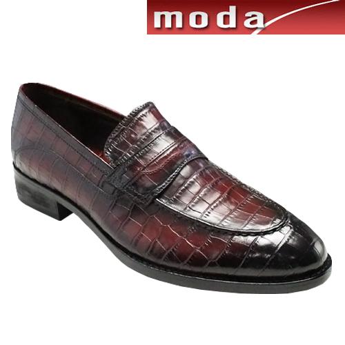 人気を誇る モデロ/人気のクロコ型押しドレス 靴&カジュアルスリップオン・DM5052(レッド)/MODELLO メンズ 靴, イルマグン:8018cd31 --- phcontabil.com.br