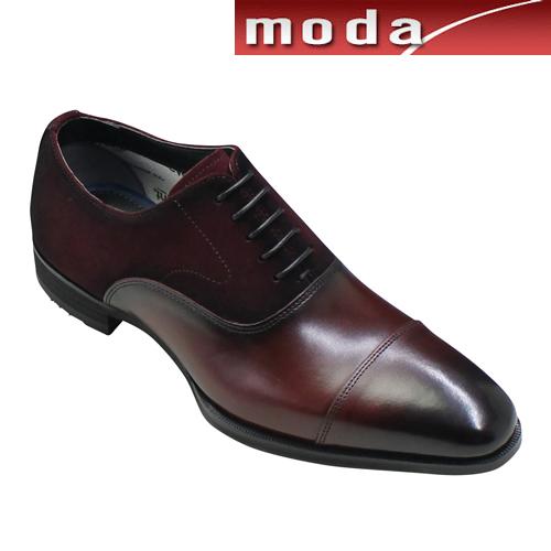 モデロ ビジネスシューズ ストレートチップ ポインテッドトゥ DM8001 バーガンディコンビ MODELLO メンズ 靴