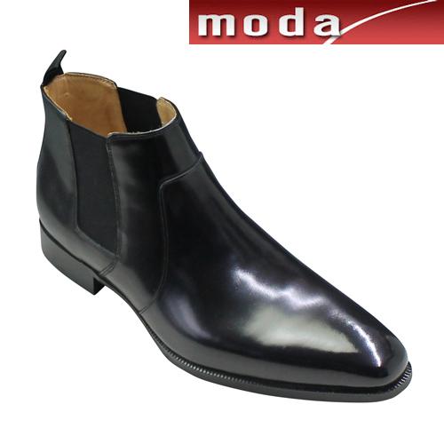 モデロ カジュアルシューズ サイドゴアブーツ プレーン ポインテッドトゥ DM9005 ブラック MODELLO メンズ 靴
