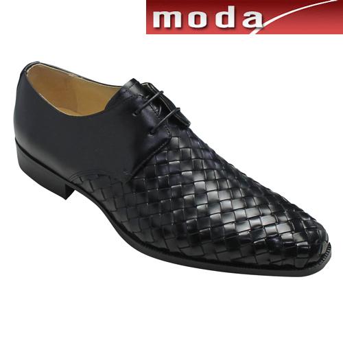 モデロ ビジネスシューズ メッシュ プレーントゥ DM9006 ブラック MODELLO メンズ 靴