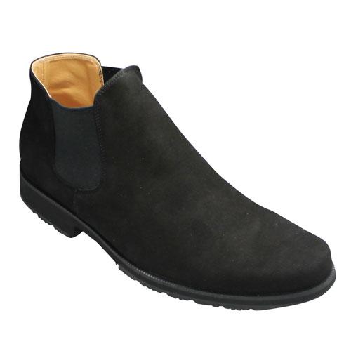 【MODELLO VITA(モデロヴィータ)】シープスキン(羊革)サイドゴアブーツ・VT5670(ブラックスエード)・3E/メンズ 靴
