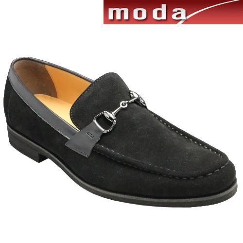モデロヴィータ/ロングノーズの牛革カジュアル(ビット)・VT5677(ブラックベロア)/3E MODELLO VITA/メンズ 靴