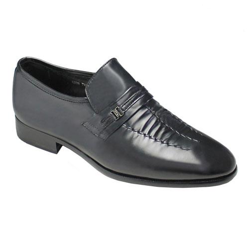 【moda selection(モーダ セレクション)】3E幅・本革底・マッケイ製法のビジネススリッポン(シャーリング)・TY921(ブラック)/メンズ 靴