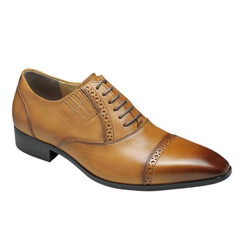 【PABEL MALDINI(パベル マルディーニ)】牛革ドレスシューズ・ストレートチップ(メダリオン)・PMD001(ブラウン)/メンズ 靴