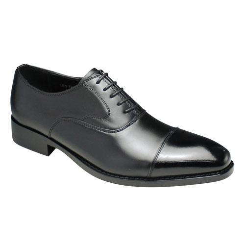 【moda selection(モーダセレクション)】モダンなイタリアンクラシコデザインの脚長ビジネスシューズ(ストレートチップ)・PH1511(ブラック)/メンズ 靴