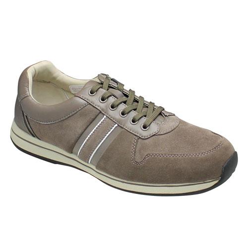 【REGAL WALKER(リーガル ウォーカー)】足裏形状なのでフィット感と履き易さ抜群のウォーキングスニーカー(レースアップ)(3E)替え紐付き・193W(グレー)/メンズ 靴