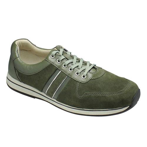 【REGAL WALKER(リーガル ウォーカー)】足裏形状なのでフィット感と履き易さ抜群のウォーキングスニーカー(レースアップ)(3E)替え紐付き・193W(グリーン)/メンズ 靴