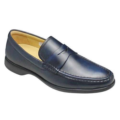 【REGAL(リーガル)】ドライビングとしても活躍するツマミモカシン(ローファー)・55GR(ネイビー)/メンズ 靴
