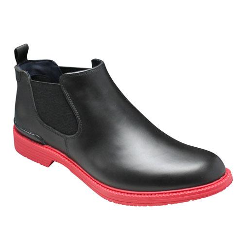 注目 【REGAL(リーガル)】カラフルなカラーソールのレインシューズ(プレーントゥ・サイドゴア)・57GR(ブラック 靴/レッド)/メンズ 靴, 旅STYLE:7703cf29 --- phcontabil.com.br