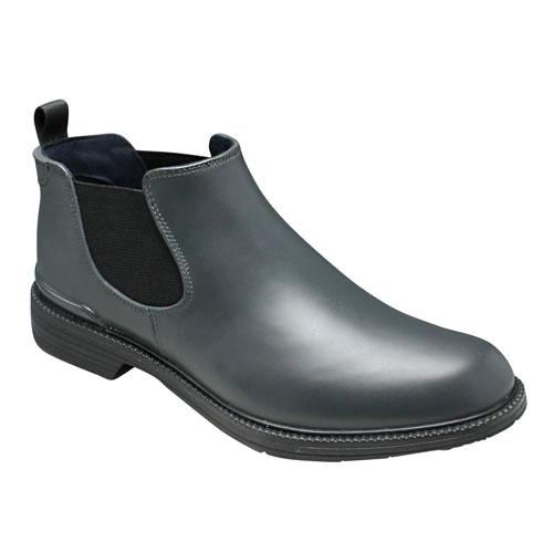 【REGAL(リーガル)】カラフルなカラーソールのレインシューズ(プレーントゥ・サイドゴア)・57GR(グレー/ブラック)/メンズ 靴
