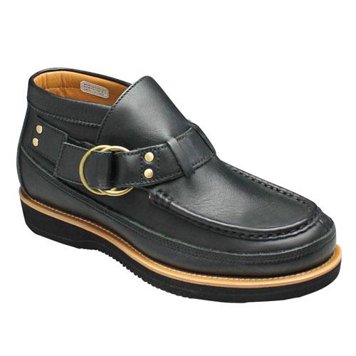 【REGAL STANDARDS(リーガルスタンダーズ)】履き易いモカシンタイプの牛革ダブルリングブーツ・59GR(ブラック)/メンズ 靴