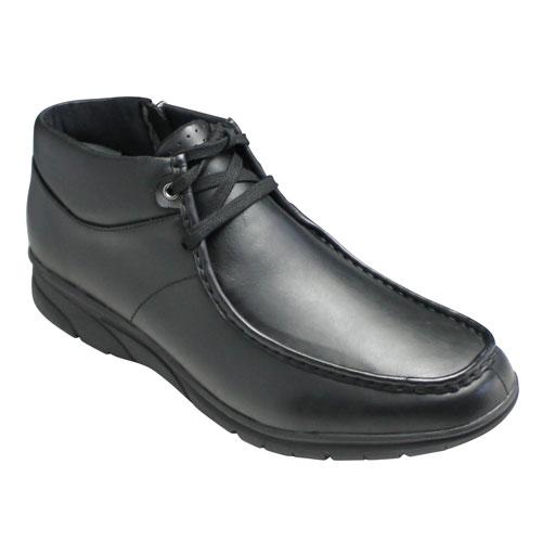 【REGAL WALKER(リーガルウォーカー)】牛革ビジカジ・ワラビーブーツ(Uモカシン)・222W(ブラック)・3E/メンズ 靴