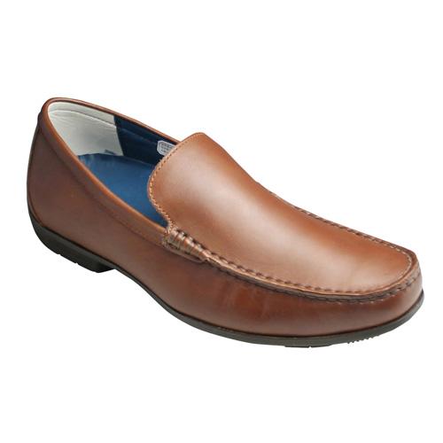 【REGAL(リーガル)】ドライビングとしても活躍する牛革ビジカジスリッポン(ヴァンプ)・56HR(ブラウン)/メンズ 靴