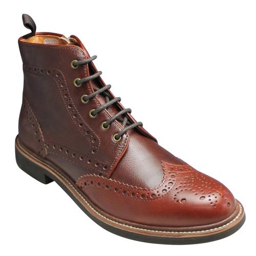 【REGAL STANDARDS(リーガル スタンダーズ)】カジュアルブーツ(ウイングチップ)・58JR(ブラウン)/メンズ 靴