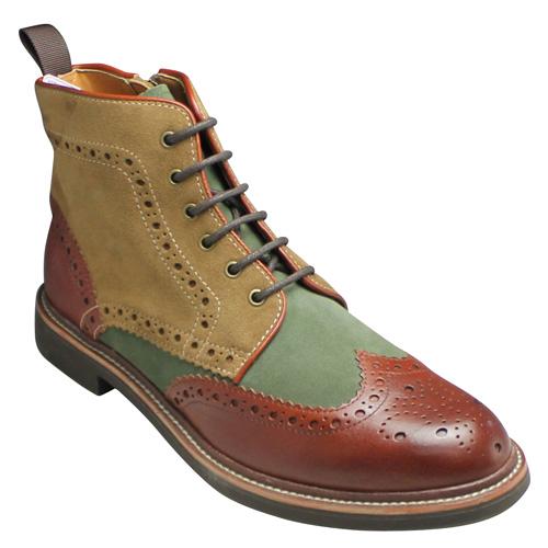 激安直営店 【REGAL STANDARDS(リーガル【REGAL スタンダーズ)】カジュアルブーツ(ウイングチップ) 靴・58JR(ブラウンコンビ)/メンズ 靴, ヨッカイチシ:f51b4a68 --- phcontabil.com.br