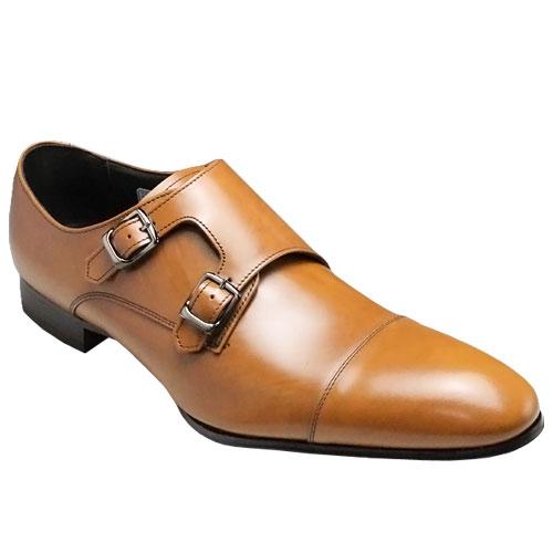 リーガル/牛革ビジネスシューズ(ストレートダブルモンク)・636R(ブラウン)/メンズ 靴