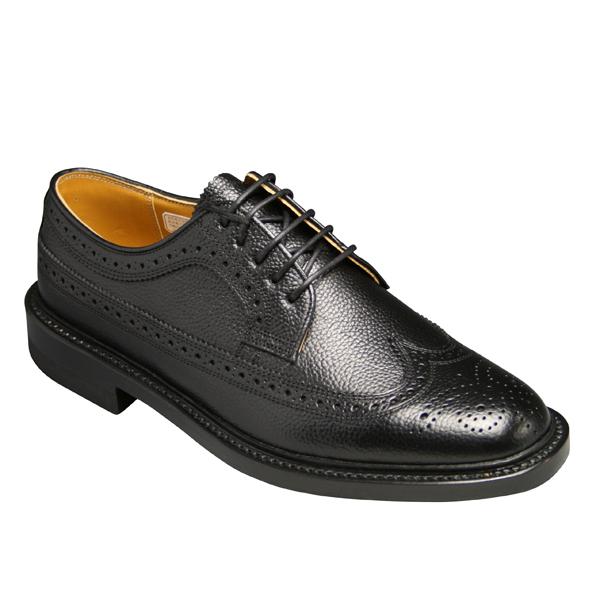 【REGAL(リーガル)】 人気の定番ビジネスシューズ ・スコッチ型押(ウイングチップ)2585 (ブラック)/メンズ 靴
