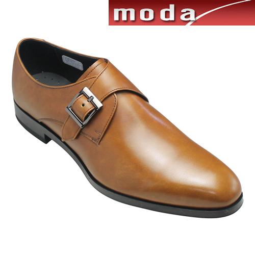 リーガル ビジネスシューズ ホールカット サイドモンク スリッポン プレーン ポインテッドトゥ 12PR ブラウン REGAL メンズ 靴