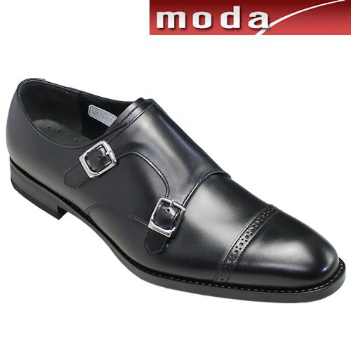 リーガル/履き口のエラスティックが特徴のダブルモンク・32MR(ブラック)/REGAL メンズ 靴