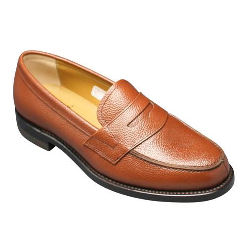 【REGAL (リーガル)】トラッドの定番!スコッチ型押しのビジネスシューズ(ローファー)・JJ16(スコッチダークブラウン)/メンズ 靴