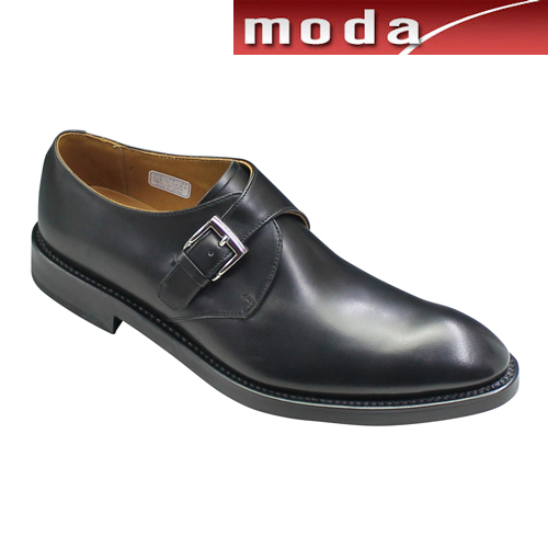 リーガル ビジネスシューズ モンクストラップ プレーン ポインテッドトゥ 07RR ブラック REGAL メンズ 靴