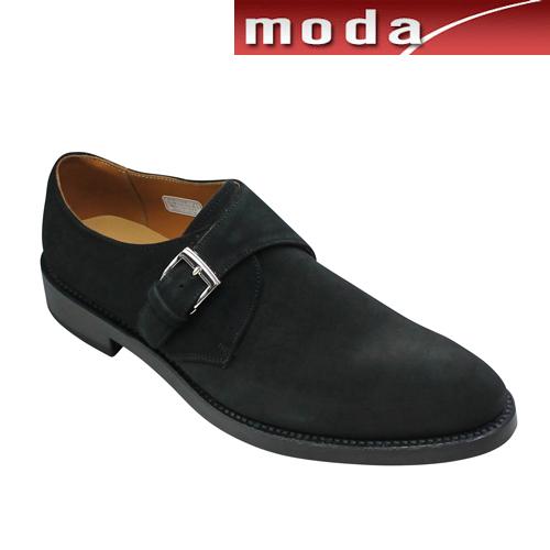 リーガル ビジネスシューズ モンクストラップ プレーン ポインテッドトゥ 07RR ブラックスエード REGAL メンズ 靴