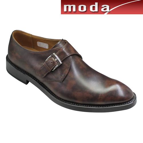 リーガル ビジネスシューズ モンクストラップ プレーン ポインテッドトゥ 07RR ダークブラウン REGAL メンズ 靴