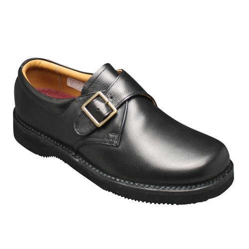 【REGAL WALKER (リーガル ウォーカー )】快適歩行の機能満載!3E幅広のビジネスウォーキングシューズ・JJ25(モンクストラップ)・ブラック/メンズ 靴