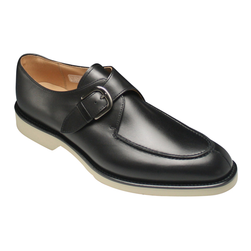 Excellent Sweat Absorption Quick Drying And Water Repellent Leather Business Shoes U Monk 06 Br Black