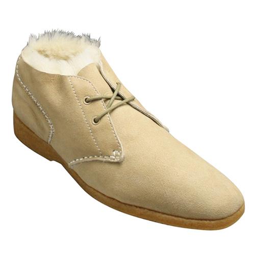 【REGAL(リーガル)】ヨーロピアンテイストに溢れたロングノーズの スエードチャッカーブーツ(ムートンタイプ)・864R(ベージュムートン)/メンズ 靴