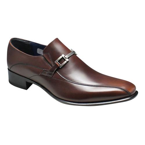 【REGAL(リーガル)】ロングノーズの脚長ドレスシューズ(ビット・スワールモカ)・27FR(ダークブラウン)/メンズ 靴