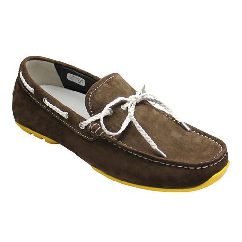 【REGAL(リーガル)】人気のドライビングシューズ(リボン)にカラーソール登場・954R-AFH(ダークブラウンスエード)/メンズ 靴