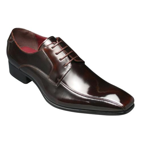 [SARABANDE (sarabande)] European elegance drifting cowhide long nose business shoes (swirl Mocha), SB7771 (dark brown) [easy ギフ _ packing]