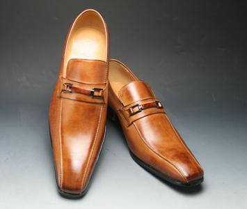 [SARABANDE (sarabande)] European elegance drifting cowhide long nose business shoes (bit), SB7772 (light brown) [easy ギフ _ packing]
