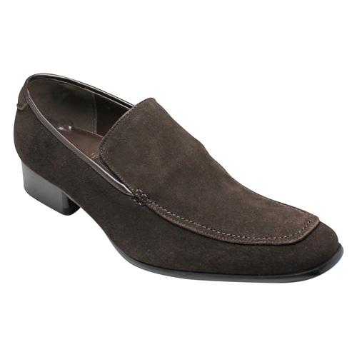 【SARABANDE(サラバンド)】ヨーロピアンエレガンス漂う牛革ロングノーズビジネスシューズ(スリッポン)・SB7774(ブラウンスエード)/メンズ 靴