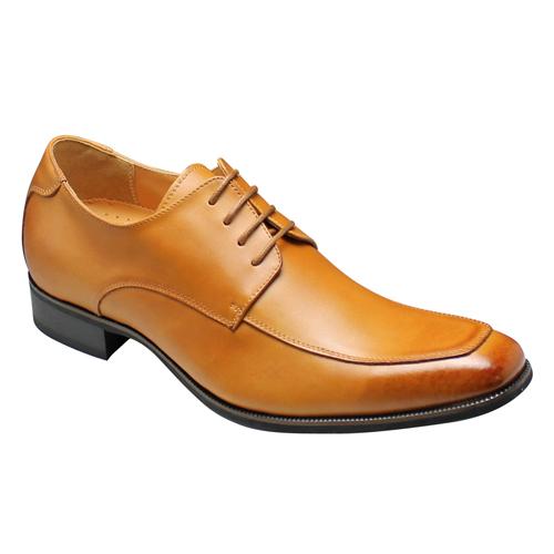 【SARABANDE(サラバンド)】6cm脚長のロングノーズ牛革ビジネスシューズ・(Uチップ)・SB8971(ライトブラウン)/メンズ 靴
