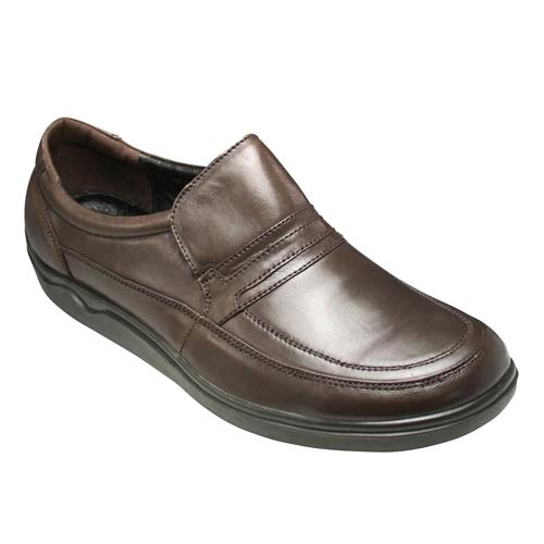 【SPALDING(スポルディング)】3Eの幅広・高級シープスキンのコンフォートウォーキング(スリップオン)・SP6393(ダークブラウン)/メンズ 靴