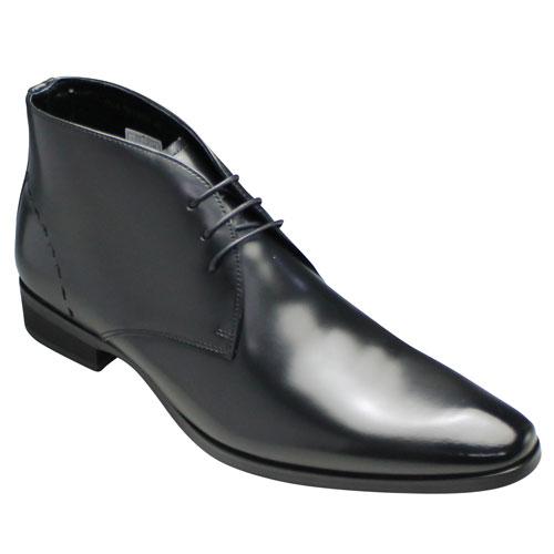【TRUSSARDI(トラサルディ)】 ロングノーズの脚長ジョージブーツ・TR13079(ブラック)・3E【送料無料】/メンズ 靴
