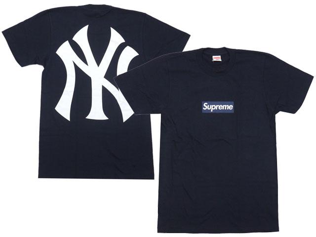 SUPREME (shupurimu) x x New York Yankees (New York Yankees)   47 Brand  (forty seven brand) 200-006559-037 NAVY Box Logo Tee (t-shirts) 3aff37ebe34