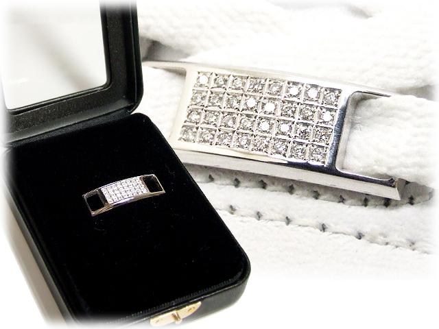【essense】 オリジナル シューレースジュエリー ダイヤモンド/WHITE GOLD 【保証書付き】SIZE:MEDIUM【一個販売】