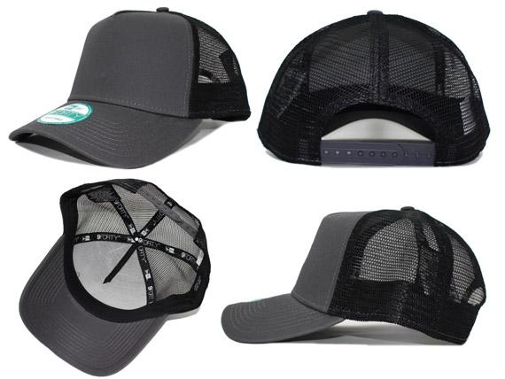 13edf294097 NEW ERA CAP (new gills cap) ne205-graphite-blk 9FORTY D-FRAME TRUCKER MESH  CAP  snapback cap  GREYxBLACK 620-004994-012