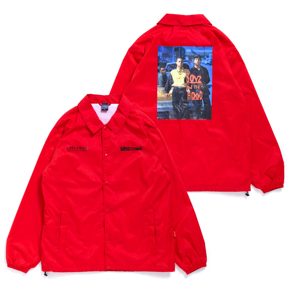 アップルバム APPLEBUM Boyz N The Hood Coach Jacket コーチジャケット RED 850003976043