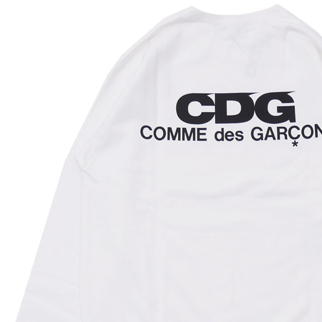 シーディージー CDG コムデギャルソン COMME des GARCONS LOGO CREW NECK SWEATSHIRT スウェット WHITE ホワイト 白 メンズ 209000530060