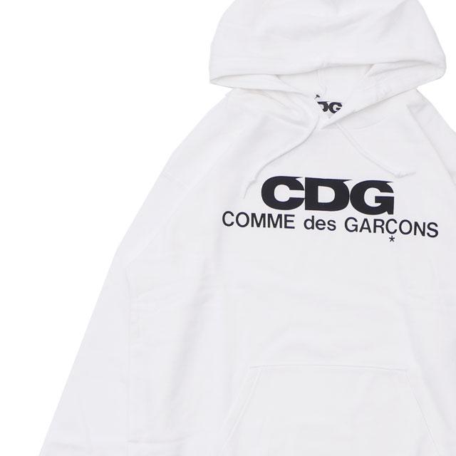シーディージー CDG コムデギャルソン COMME des GARCONS LOGO HOODED SWEATSHIRT スウェットパーカー WHITE ホワイト 白 メンズ 211000596060