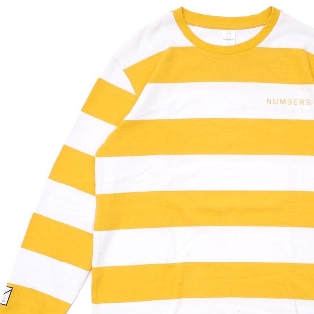 ロンハーマン Ron Herman 100%安心保証 日本正規品 当店取扱い商品は全て本物 正規商品 ナンバーズ Numbers 最新アイテム x RHC 黄色 STRIPED イエロー LS 202001028058 TEE 長袖Tシャツ メンズ YELLOW