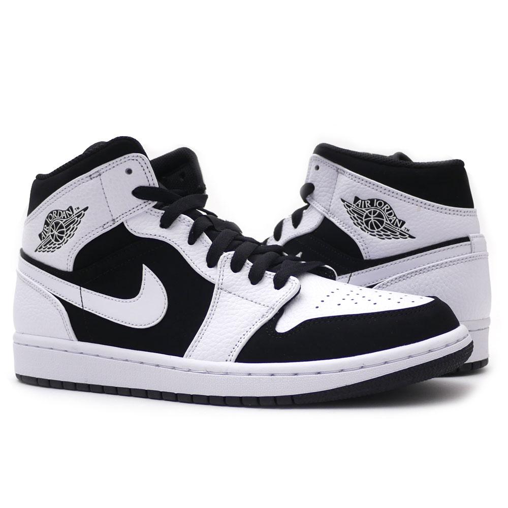 free shipping deb87 ffbcd essense  Nike NIKE AIR JORDAN 1 MID Air Jordan 1 mid WHITE BLACK ...
