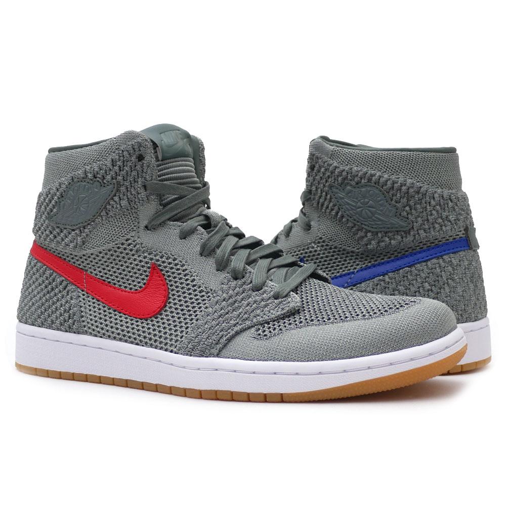 new style 87705 bd756 Nike NIKE AIR JORDAN 1 RETRO HI FLYKNIT Air Jordan CLAY GREEN/WHITE-HYPER  COBALT men 919,704-333 191012810292