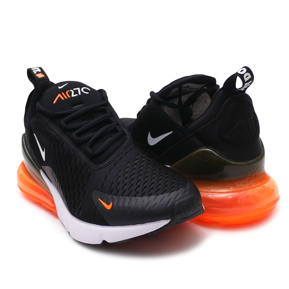 quality design f99b9 39896 Nike NIKE AIR MAX 270 Air Max BLACK/WHITE-TOTAL ORANGE men AH8050-014  191013112291